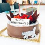 【福岡・平尾】シャレトールさんのバースデーケーキでプチ誕生会!!!